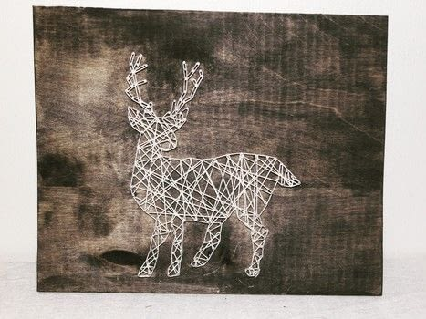 String art .  Free tutorial with pictures on how to make string art in under 120 minutes by decorating with nails, hammer, and wooden plank. Inspired by deer and norwegian. How To posted by Gunhild N. .  in the Home + DIY section Difficulty: Simple. Cost: Absolutley free. Steps: 5
