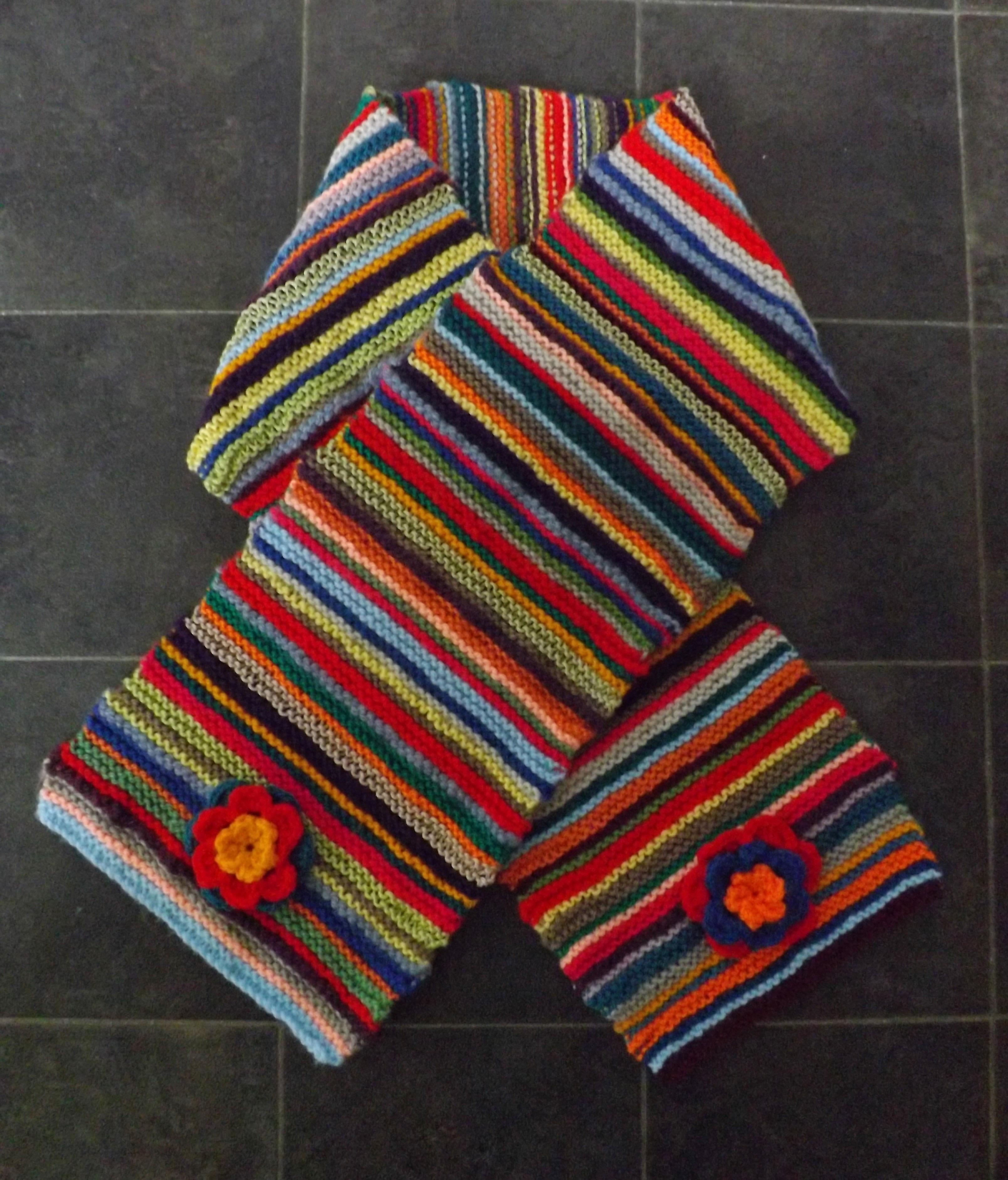 Multi Stripe Scarf · How To Knit Or Crochet A Stripy Scarf ...