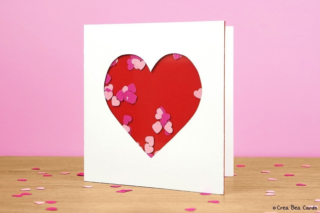 Heart Shaker Card How To Make A Greetings Card Papercraft On Cut