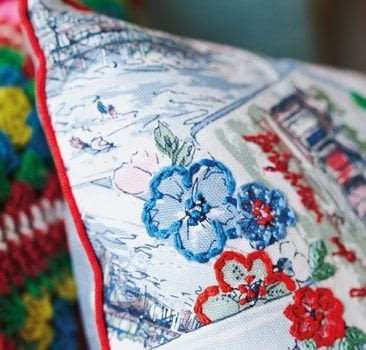 Cath Kidston Sewing Book .  Free tutorial with pictures on how to make a stitched cushion in under 120 minutes by needleworking and embroidering with fabric, fabric, and embroidery thread. Inspired by cath kidston. How To posted by Quadrille.  in the Needlework section Difficulty: Simple. Cost: 3/5. Steps: 8