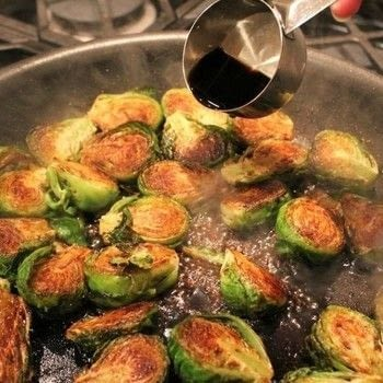 Super easy recipe for balsamic glazed Brussels sprouts. .  Free tutorial with pictures on how to cook brussel sprouts in under 20 minutes using brussels sprouts, olive oil, and balsamic vinegar. Recipe posted by Holly S.  in the Recipes section Difficulty: Easy. Cost: Cheap. Steps: 6