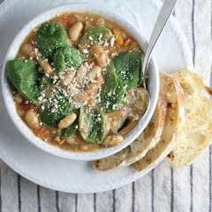 Spicy Italian White Bean & Sausage Soup   Taste And See