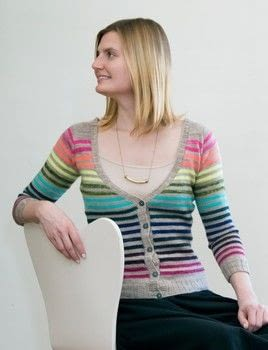 Mini Skein Knits .  Free tutorial with pictures on how to make a cardigan in 5 steps by knitting with yarn, yarn, and circular needles. Inspired by rainbow. How To posted by GMC Group.  in the Yarncraft section Difficulty: 3/5. Cost: 3/5.