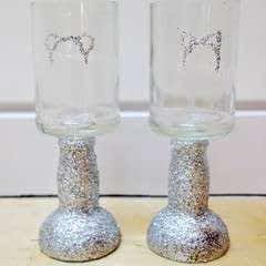 Glittering Bottle Glasses