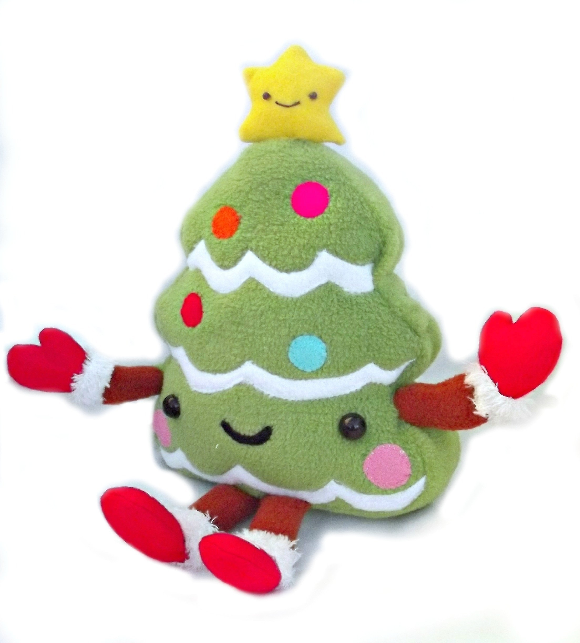Kawaii Christmas Tree · A Character Plushie · Sewing on Cut Out + Keep
