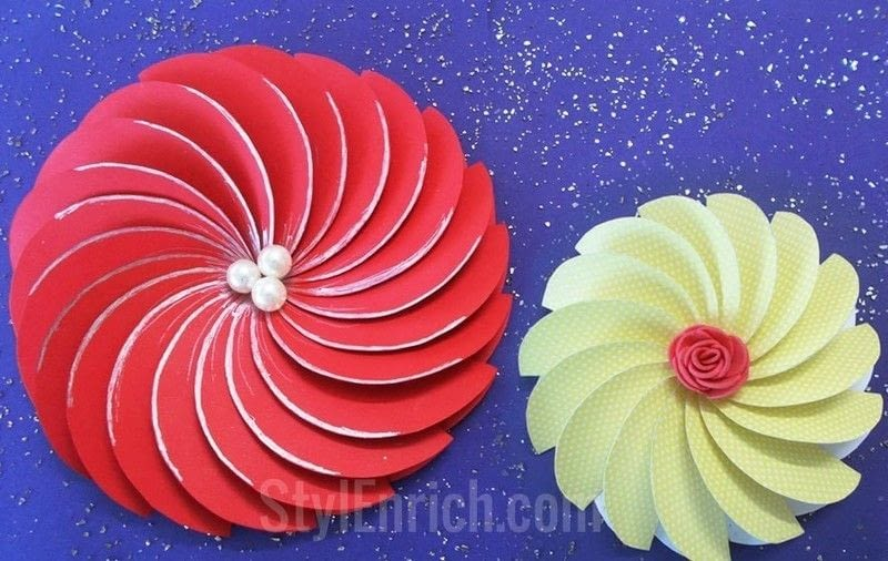 How to make easy paper flowers for diy projects how to for Easy paper cutting flowers