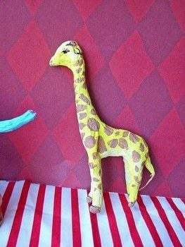 I have been working on a miniature circus, which you can see here. .  Free tutorial with pictures on how to make a papier mache model in under 60 minutes using wire and papier mache. Inspired by animals. How To posted by Corinne D.  in the Other section Difficulty: 4/5. Cost: Cheap. Steps: 7