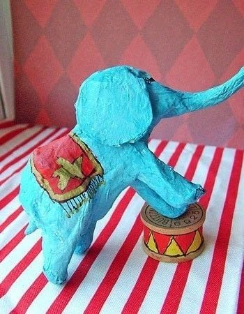 Easy Paper Mache Circus Animals 183 How To Make A Papier Mache Model 183 Other On Cut Out Keep