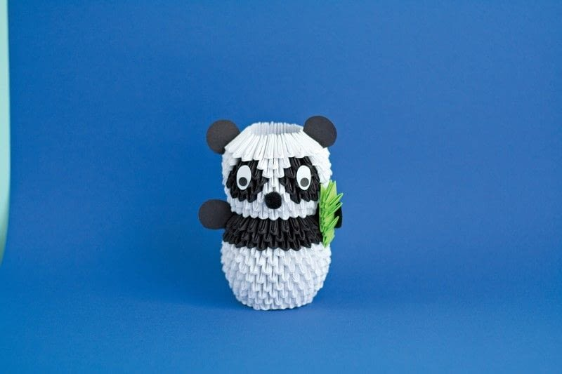 3d origami panda 183 extract from 3d origami fun by