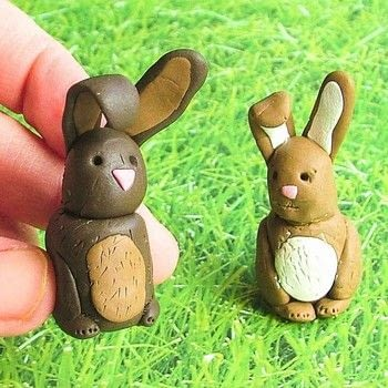 Easter always brings to mind the images of chocolate bunnies! .  Free tutorial with pictures on how to sculpt a clay rabbit in under 25 minutes by  with fimo, toothpick, and sculpting tools. Inspired by kids, rabbits, and chocolate. How To posted by Corinne D.  in the Other section Difficulty: Simple. Cost: Cheap. Steps: 8
