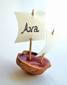 Walnut boats are a classic craft to make with kids.  .  Free tutorial with pictures on how to make a shell ornament in under 60 minutes using walnuts, wax, and spoon. Inspired by kids and thanksgiving. How To posted by Corinne D.  in the Decorating section Difficulty: Easy. Cost: Absolutley free. Steps: 4