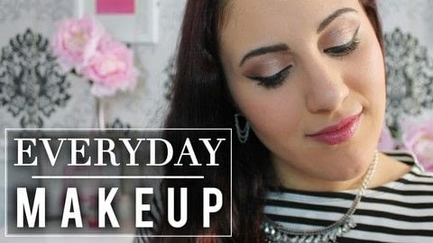 The perfect Makeup for a simple everyday look! .  Free tutorial with pictures on how to create a pink eye makeup look in under 10 minutes using eye shadow palette. How To posted by Serena A.  in the Beauty section Difficulty: Simple. Cost: Cheap. Steps: 1
