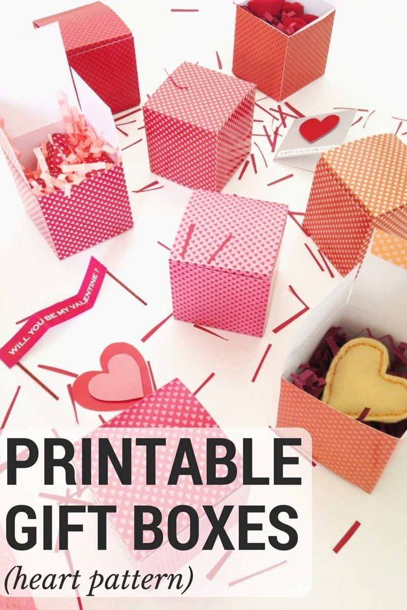 image relating to Printable Gift Box identify Printable Present Bins Center Habit · A Misc · Papercraft