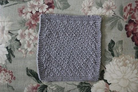 Cotton dish/wash cloth featuring a slipped stitch that creates a herringbone style design.  .  Free tutorial with pictures on how to make a dish cloth or scrubber in under 60 minutes by knitting with yarn and knitting needles. Inspired by herringbone. How To posted by Liesl M.  in the Yarncraft section Difficulty: Easy. Cost: No cost. Steps: 2