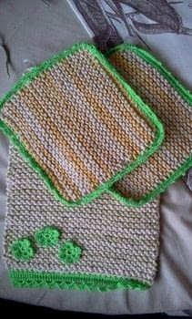 Cotton Washcloths for everyday use, or a nice gift even .  Free tutorial with pictures on how to make a towel in under 120 minutes by knitting with yarn and knitting needles. How To posted by Joey B.  in the Yarncraft section Difficulty: Simple. Cost: No cost. Steps: 1