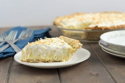 Coconut cream pie .  Free tutorial with pictures on how to bake a cream pie in under 60 minutes by baking with flour, sugar, and salt. Recipe posted by Golden Brown and Delicious | Jessica D.  in the Recipes section Difficulty: 3/5. Cost: 3/5. Steps: 4