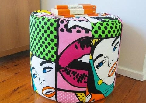 .  Free tutorial with pictures on how to make a floor cushion in 11 steps using scissors, thread, and ruler. Inspired by pop art. How To posted by bobbinandbaste.  in the Sewing section Difficulty: Simple. Cost: Cheap.