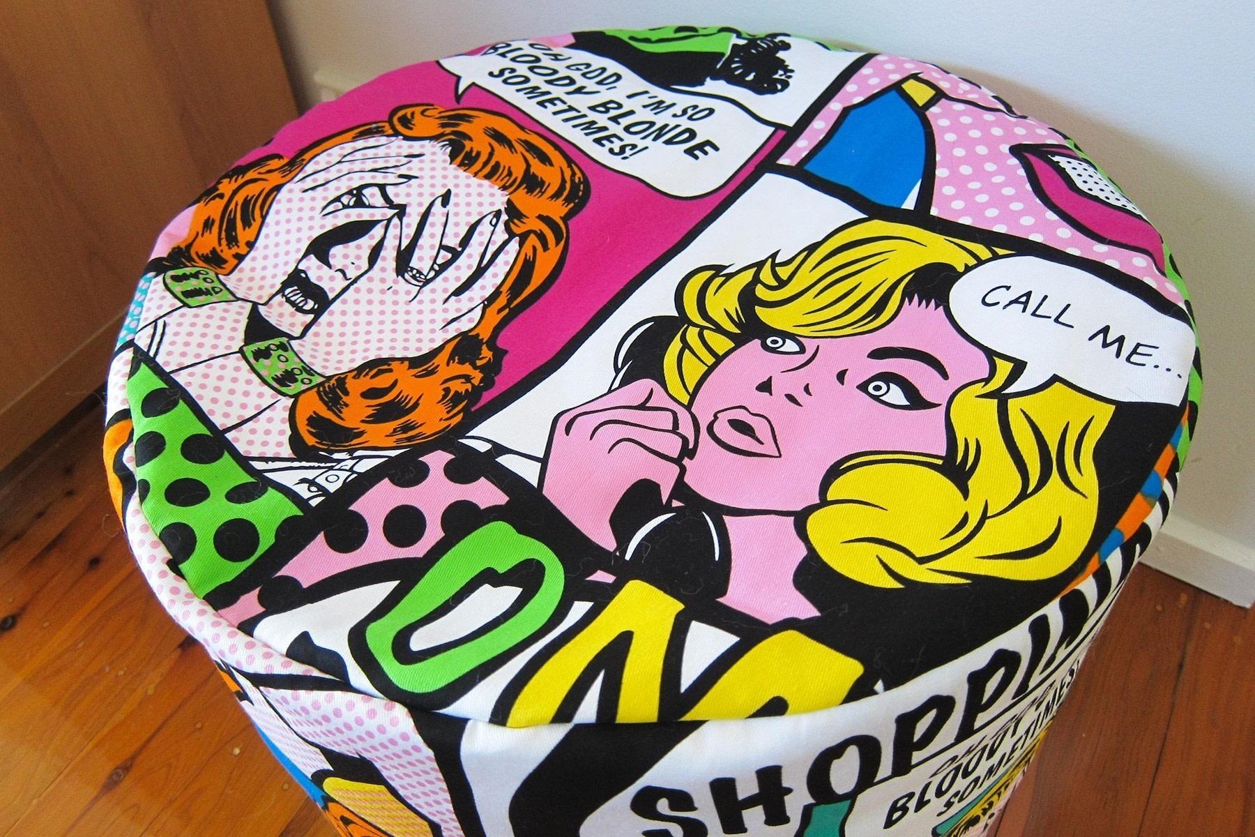 how to make a pouf cushion