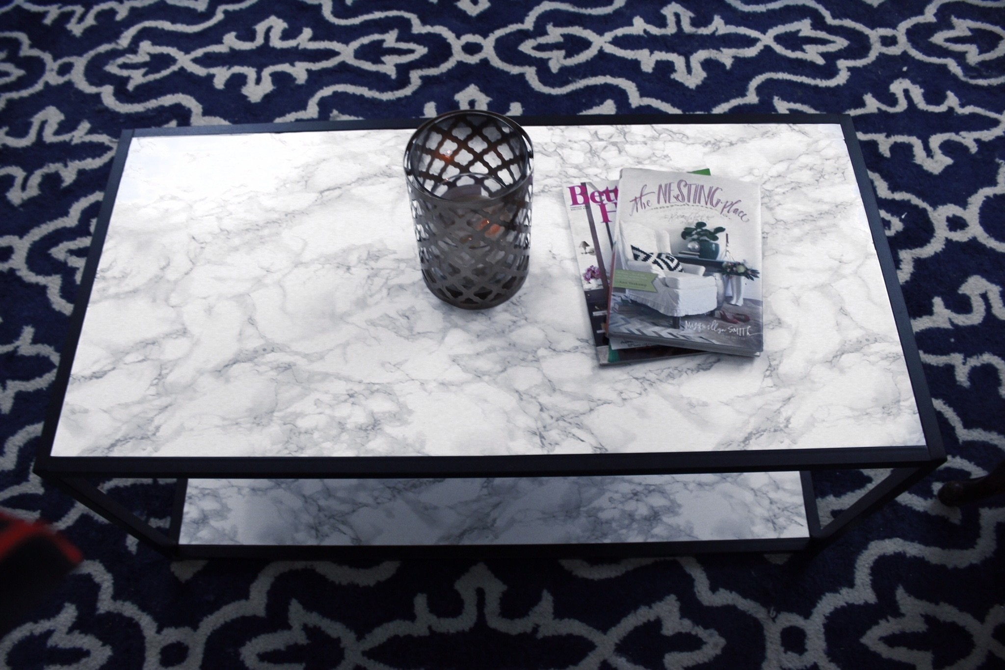 Diy Faux Marble Coffee Table Makeover Tutorial · How To Make A