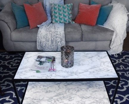 Diy Faux Marble Coffee Table Makeover Tutorial 183 How To Make A Coffee Table 183 Home Diy On Cut