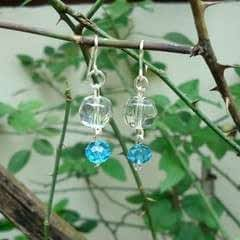 Crystal Beaded Dangle Ear Hooks