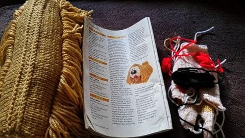 20 years later .. .  Make a play book in under 120 minutes using dk wool, dk wool, and dk wool. Inspired by cartoons. Creation posted by jenny y.  in the Yarncraft section Difficulty: 3/5. Cost: Cheap.