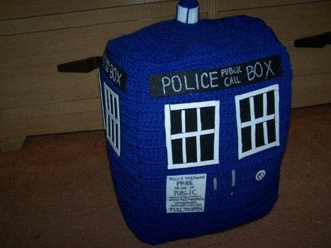 Your Personal Little Time Machine .  Make a cube plushie using yarn, sewing needle, and tacky glue. Inspired by dr who and tardis. Creation posted by musicallyknitted ™.  in the Yarncraft section Difficulty: Easy. Cost: Absolutley free.