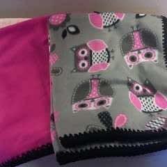 Fleece Blankets With A Crocheted Edge