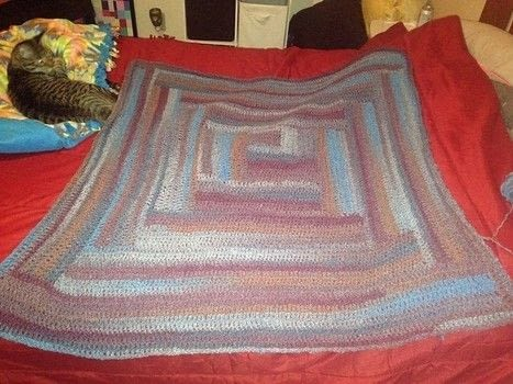 Easy Log Cabin Afghan .  Stitch a knit or crochet blanket using yarn. Creation posted by Breanna S.  in the Yarncraft section Difficulty: 3/5. Cost: 3/5.