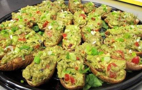 Cook avocado potato skins with Cleveland Vegan .  Free tutorial with pictures on how to cook a potato dish in under 15 minutes by cooking with potatoes, oil, and salt. Recipe posted by A Bite To Eat.  in the Recipes section Difficulty: Simple. Cost: 3/5. Steps: 3
