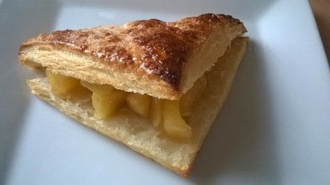 Apple or chocolate turnovers .  Free tutorial with pictures on how to bake a pastry in under 30 minutes by cooking and baking with puff pastry, apples, and sugar. Recipe posted by Super Madcow.  in the Recipes section Difficulty: Easy. Cost: Cheap. Steps: 9