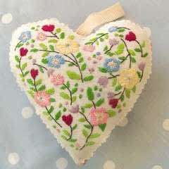 Embroidered Love Heart