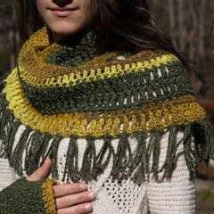 Fringed Crochet Cowl