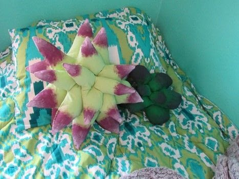 Make some plush succulents that never need watering! .  Free tutorial with pictures on how to make a pillow/cushion in under 60 minutes using fabric, sewing equipment, and paints. How To posted by Cheryl .  in the Sewing section Difficulty: 3/5. Cost: Cheap. Steps: 1
