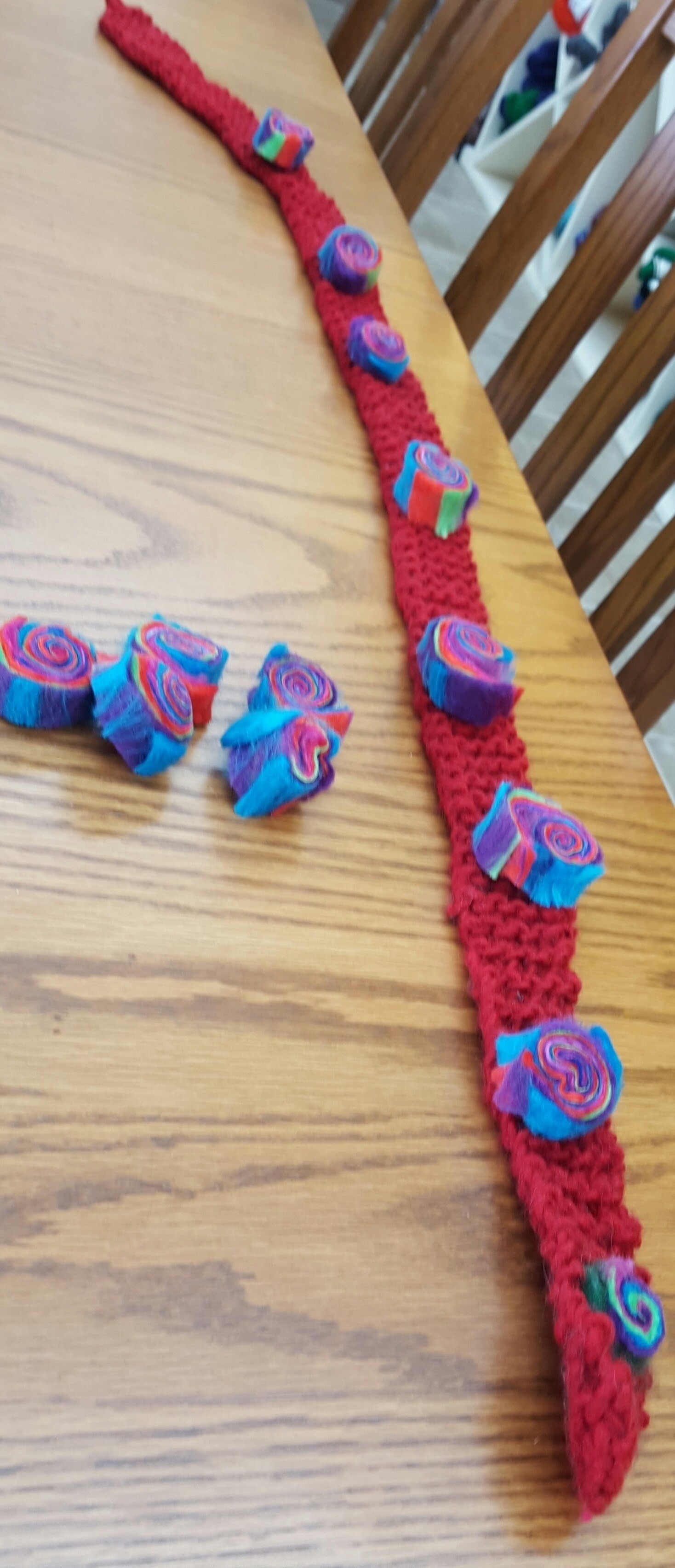 Make a Felted Jelly Roll Scarf with Ophir Yarn in Ann Arbor, Michigan.