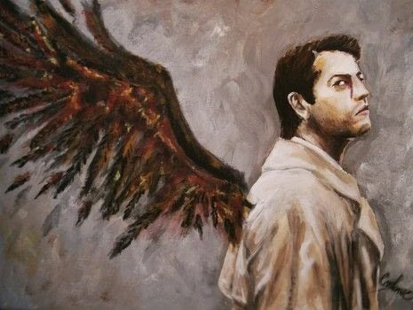 Castiel from supernatural .  Paint a painting in under 180 minutes using canvas, acrylic paint, and paintbrushes. Inspired by supernatural. Creation posted by Crimsaros.  in the Art section Difficulty: 3/5. Cost: 3/5.