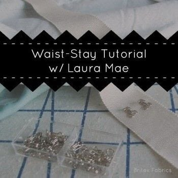 Tutorial: Adding A Waist-Stay To A Garment by Laura Mae from Lilacs & Lace .  Free tutorial with pictures on how to sew  in under 35 minutes by sewing and dressmaking with ribbon, needle, and thread. How To posted by Shop Showcase.  in the Sewing section Difficulty: Simple. Cost: Cheap. Steps: 16