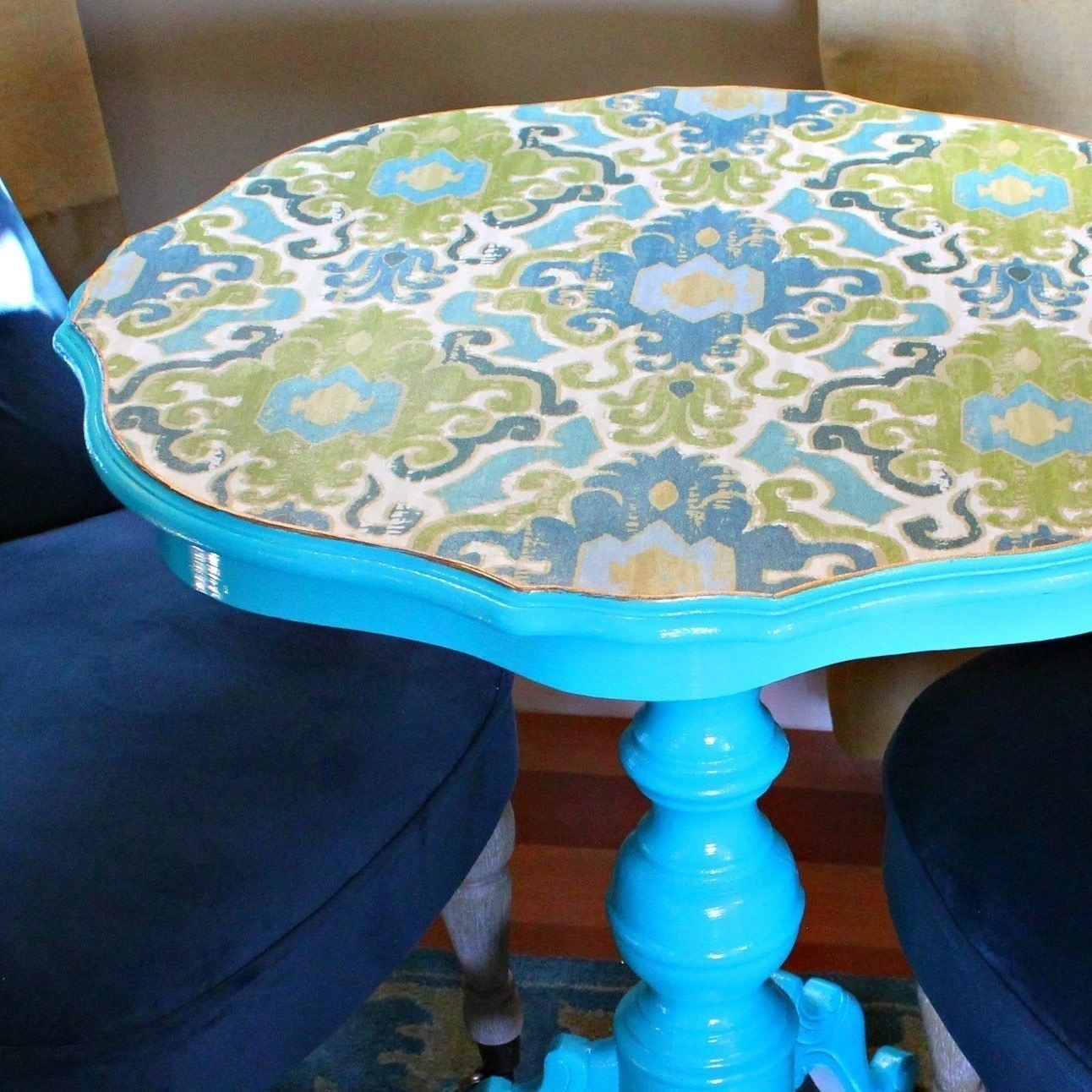 Makeover A Thrift Table With Little Fabric It S Easy