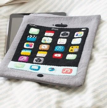 Dress Your Tech .  Free tutorial with pictures on how to make a tablet sleeve in under 120 minutes by sewing with felt, felt, and felt. How To posted by Ryland Peters & Small.  in the Sewing section Difficulty: Simple. Cost: Cheap. Steps: 8