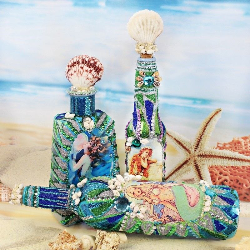 Mermaid Bottles 183 How To Make A Piece Of Seasonal Decor 183 Art On Cut Out Keep