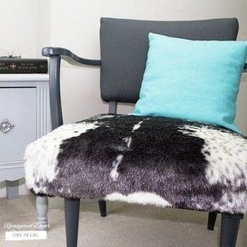 How to Reupholster a Chair .  Free tutorial with pictures on how to make a chair in under 180 minutes by upholstering with fabrics, paint, and staple gun. Inspired by animal print. How To posted by reinspireddecor.  in the Home + DIY section Difficulty: Simple. Cost: 3/5. Steps: 6