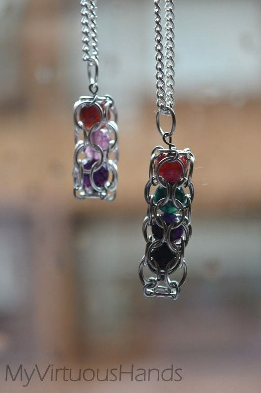 Caged Beads How To Make A Charm