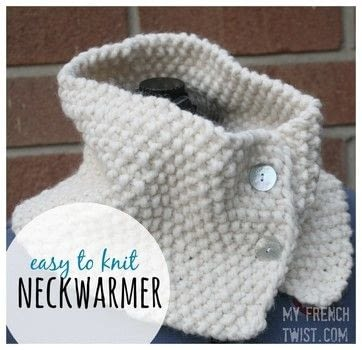 A simple project for beginners that makes a sweet gift! .  Free tutorial with pictures on how to make a neck warmer in under 120 minutes by knitting with knitting needles, bulky yarn , and buttons. Inspired by gifts. How To posted by Wendy R.  in the Needlework section Difficulty: Simple. Cost: Cheap. Steps: 3