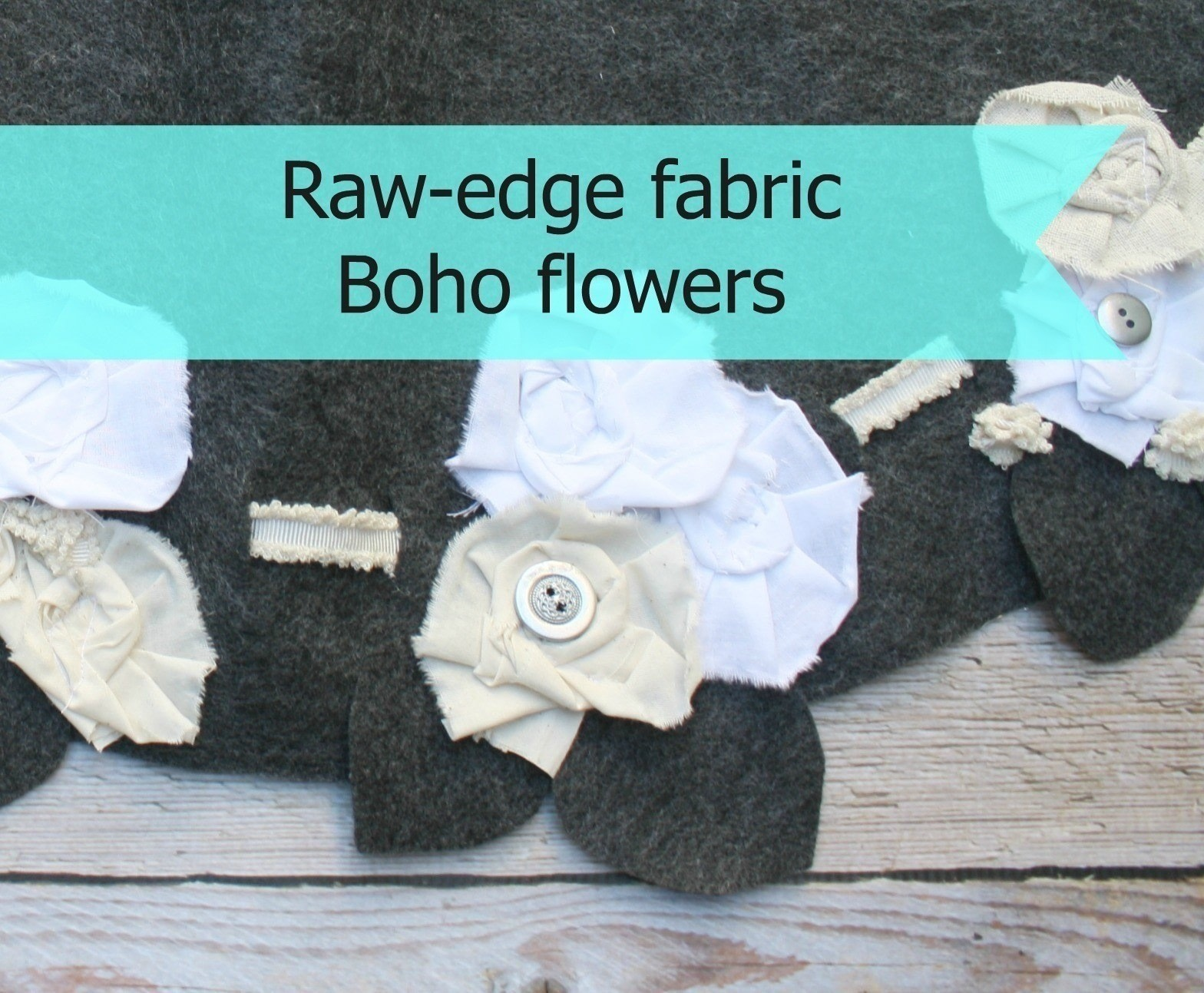 Boho fabric flowers how to sew a fabric flower charm sewing on funky little raw edge flowers used for embellishing almost anything free tutorial with izmirmasajfo