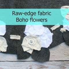Boho Fabric Flowers