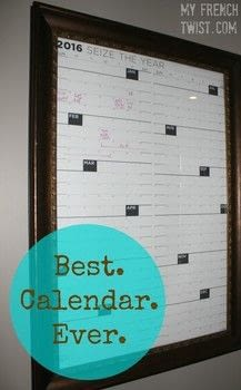 A DIY calendar that is both artsy and practical! .  Free tutorial with pictures on how to make a calendar in under 20 minutes using calendar, frame, and dry erase marker. Inspired by organization. How To posted by Wendy R.  in the Home + DIY section Difficulty: Easy. Cost: 3/5. Steps: 3