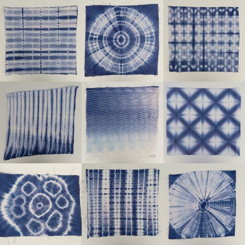 10 Shibori Swatches 183 How To Make A Dyeing 183 Other On Cut