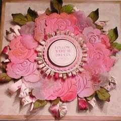 How To Make A Embossed Vellum Rose Wreath Card