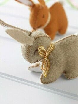 Fabulous Felt .  Free tutorial with pictures on how to make rabbit plushie in under 120 minutes by sewing and hand sewing with felt, embroidery thread, and ribbon. Inspired by rabbits. How To posted by Search Press.  in the Sewing section Difficulty: Simple. Cost: Cheap. Steps: 8
