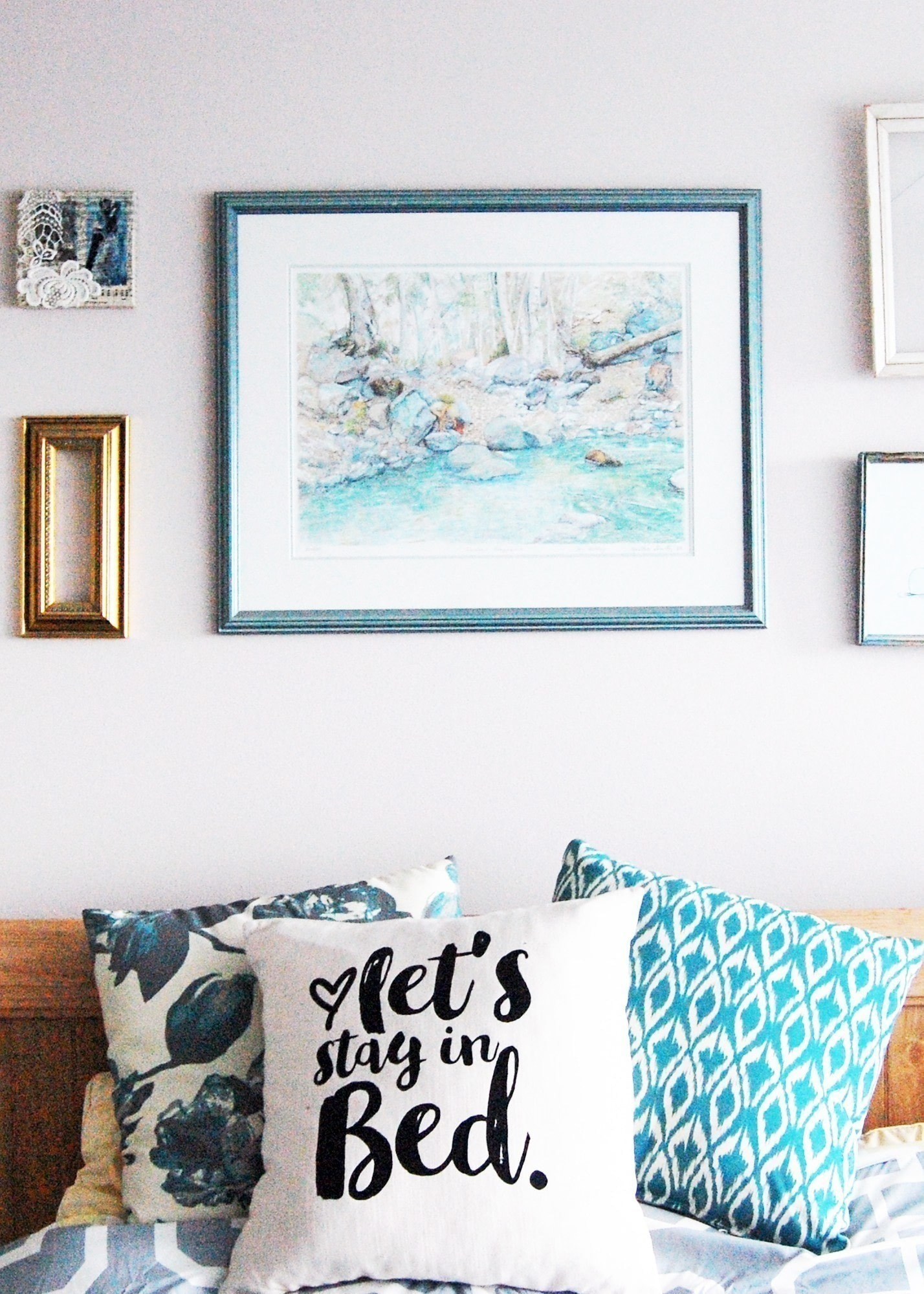 Indigo Inspired Let S Stay In Bed Pillow Diy 183 How To